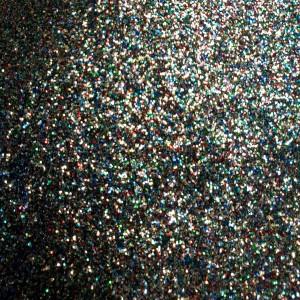 Umetno usnje Glitter, platina