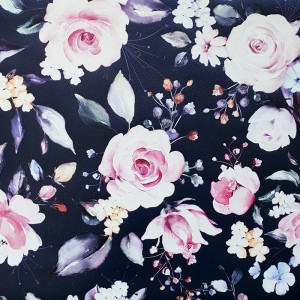 Umetno usnje Vrtnice, temno modra