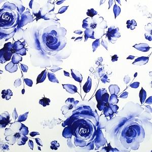 Umetno usnje Vrtnice, modra