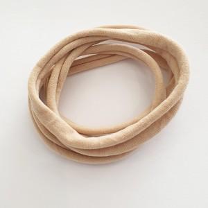 Naglavni trak iz najlona, natur bež, 5 kos