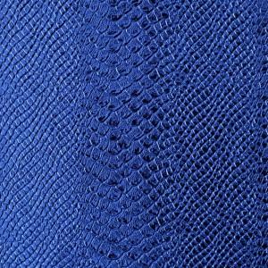 Umetno usnje Kača, shiny modra