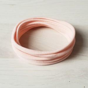 Naglavni trak iz najlona, nežno roza, 5 kos