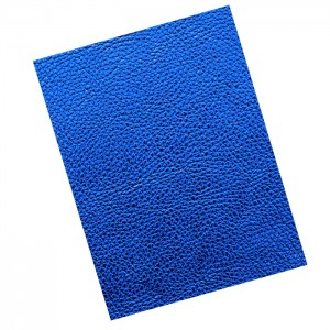 Umetno usnje kos 21X30 cm shiny modra