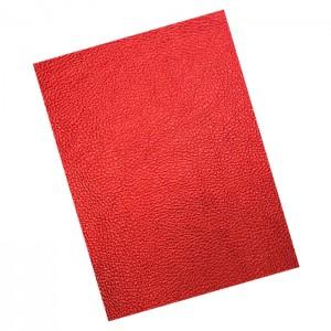 Umetno usnje kos 21X30 cm shiny rdeca