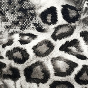 Umetno usnje Leopard, črna