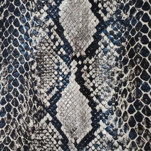 Umetno usnje Kača, črno-srebrna