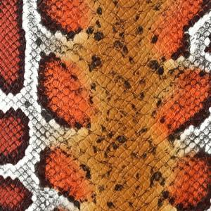 Umetno usnje Kača, piton oranžna