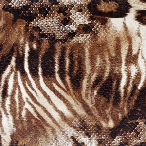 Umetno usnje Tiger, rjava