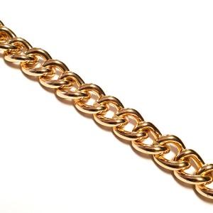 Ketnica za torbice 13,5 mm, zlata