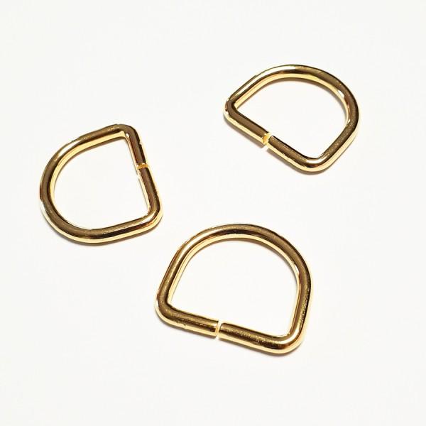 D rinka, 25 mm, zlata