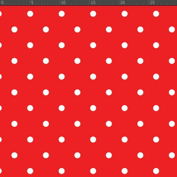 mini bele pike, rdeča