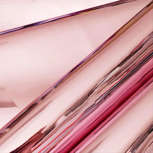 Umetno usnje Mirror nežno roza