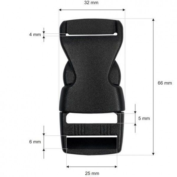 Plastična zaponka 25 mm
