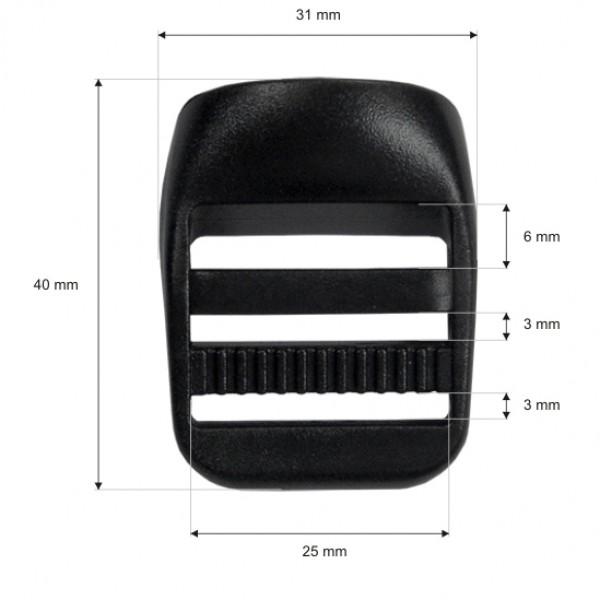 regulator za torbe 25 mm