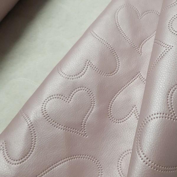 umetno usnje pink pearl srcki