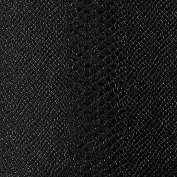 Umetno usnje Kača, shiny črna