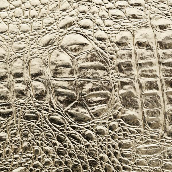 Umetno usnje krokodil, shiny zlata